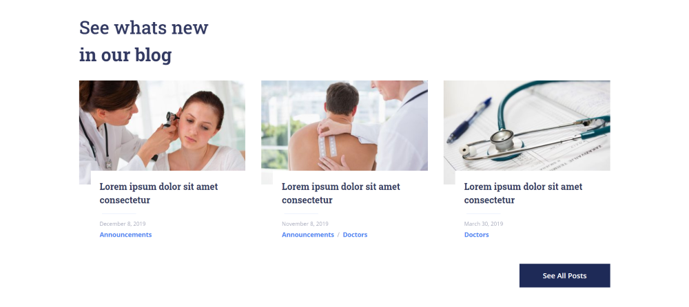 Divi Health Clinic Home Page