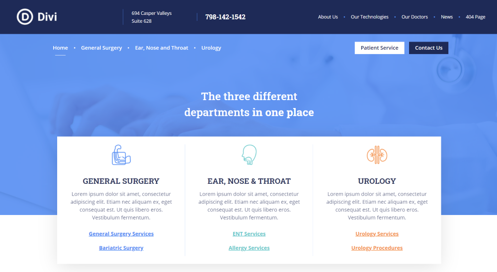 Divi Health Clinic Installation and Demo