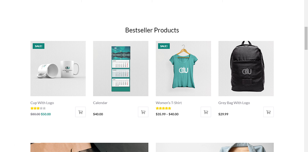 Divi WooCommerce Store Child Theme Bestseller Products