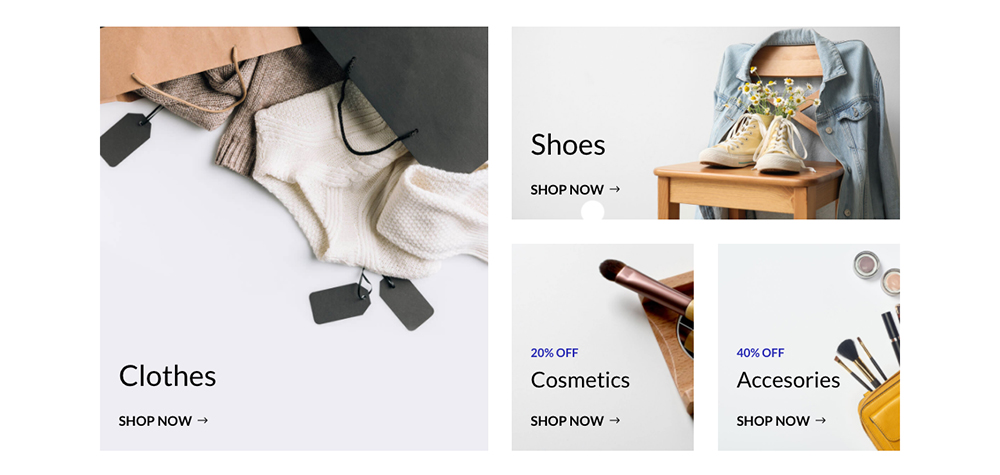 Divi WooCommerce Store Child Theme Product Category Display