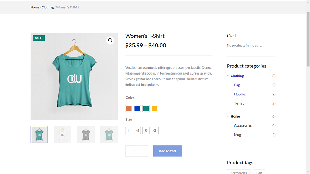 Divi WooCommerce Store Child Theme Product Layout 1
