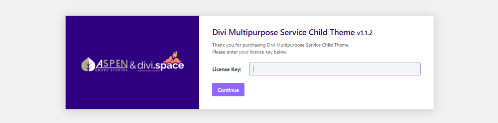 Installing Divi Multipurpose Service Child Theme