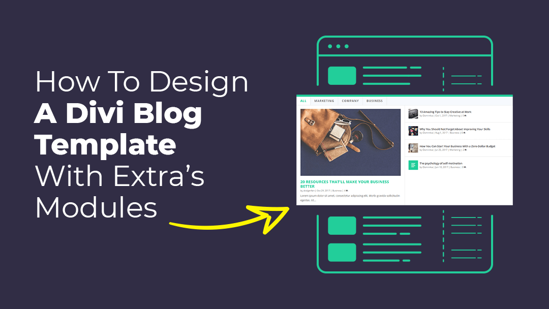 How to Design a Divi Blog Page Template with Extra's Modules