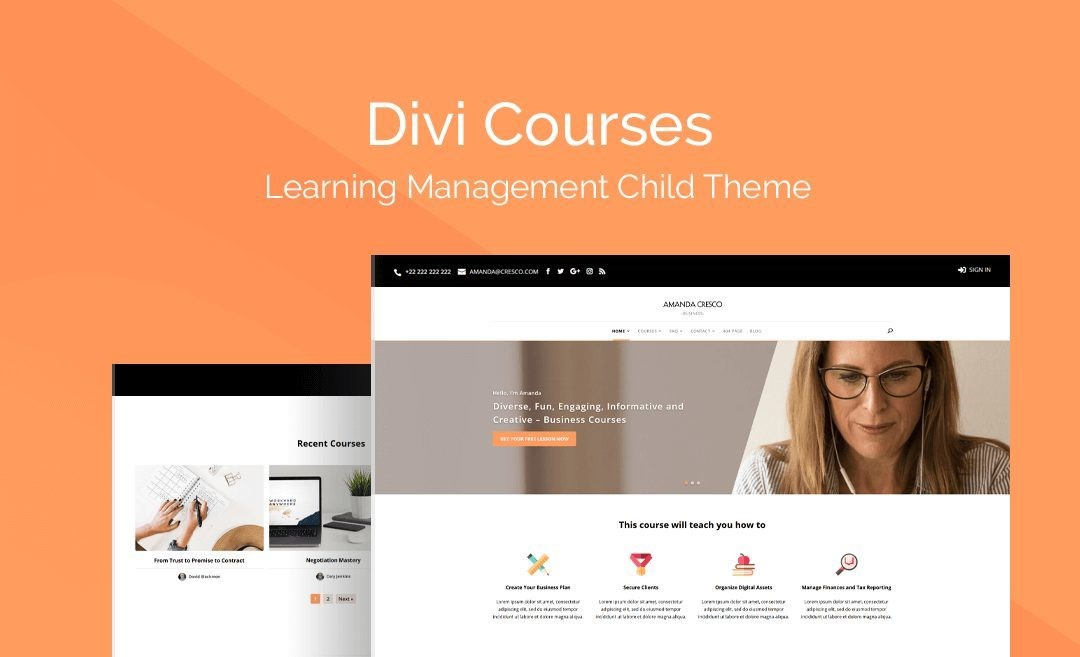Create An eLearning Website With Divi Courses Child Theme