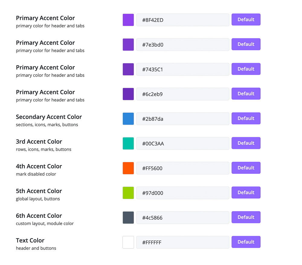 customize the backend and visual editor color scheme
