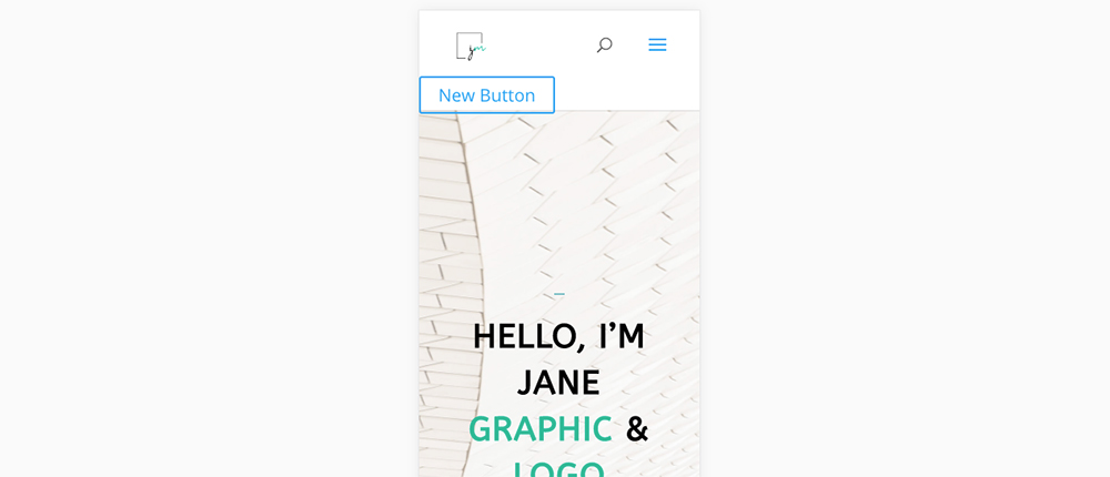 Divi mobile menu call to action button added with Javascript