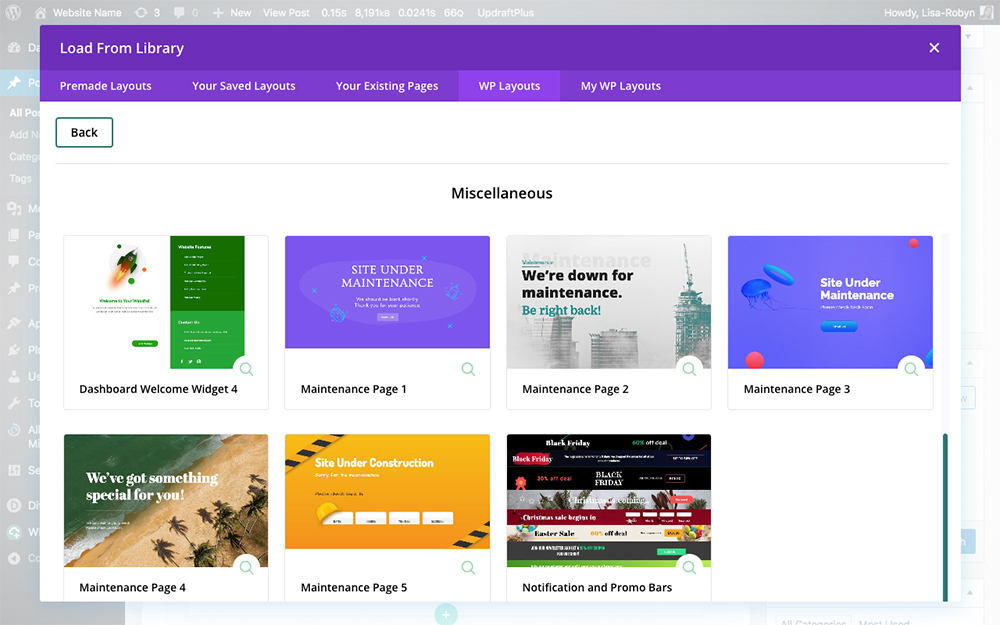 WP Layouts for the Divi Builder