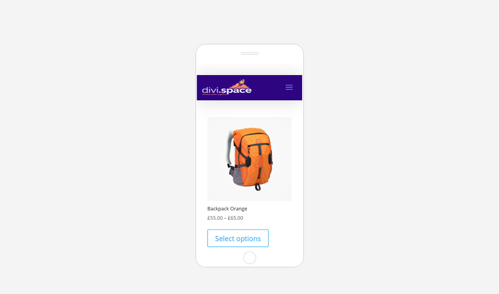 WooCommerce Products in One Column on Mobile Devices - Divi Shop module CSS added