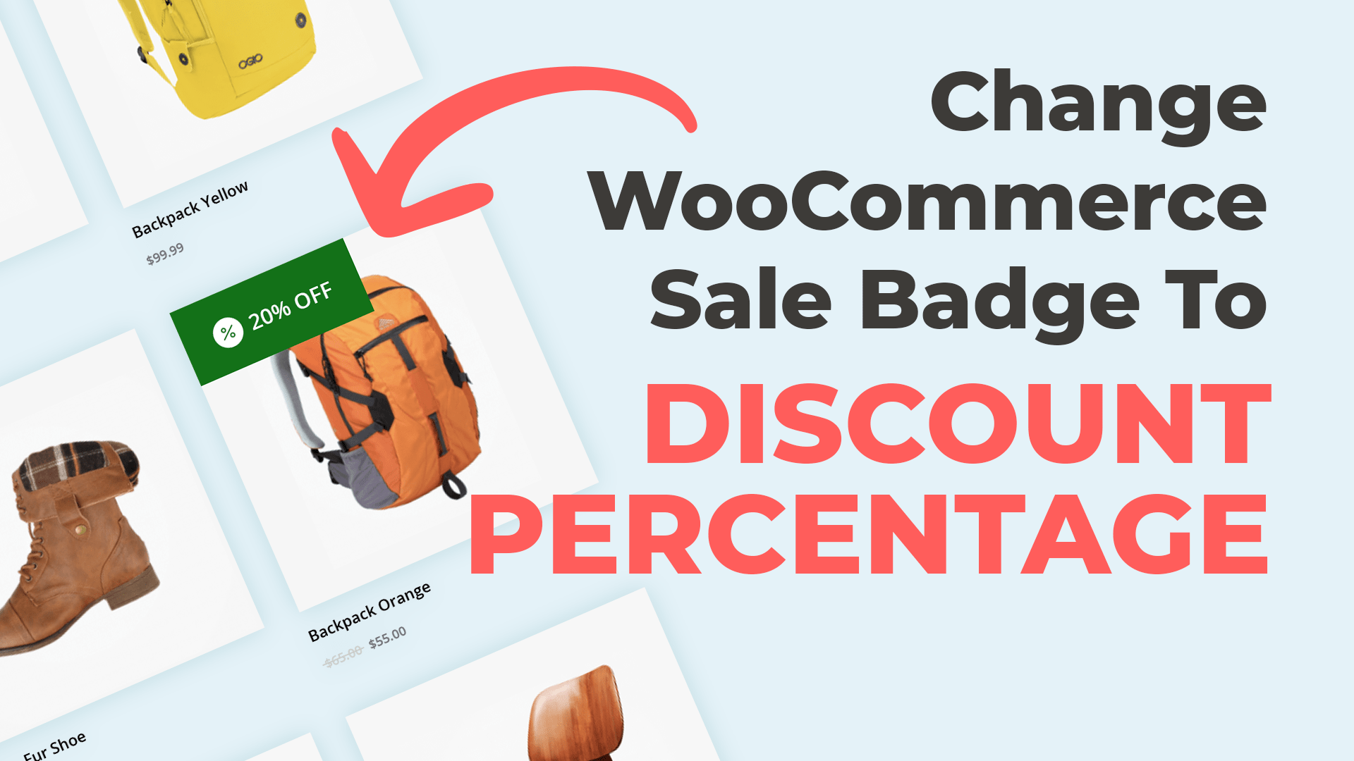 Change the WooCommerce Sale Badge to Display a Percentage Discount