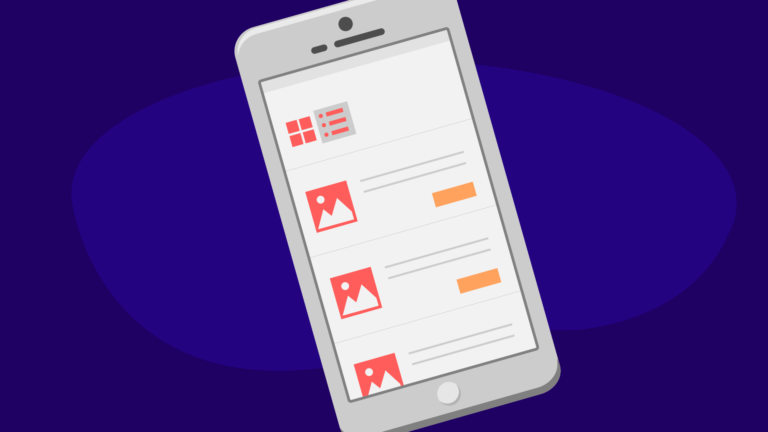 list view products ecommerce