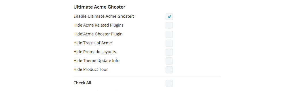 Divi Ghoster set up enable Ultimate Ghoster checkbox all options