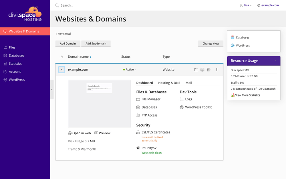 An example of Dynamic List View