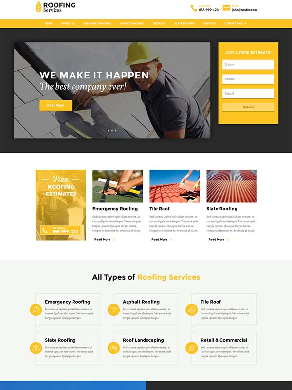 roofing theme divi space