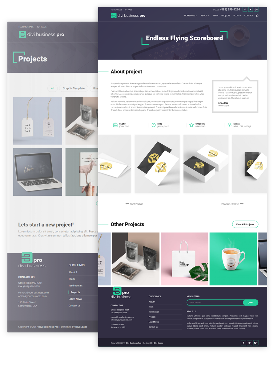 Divi Business Pro Projects