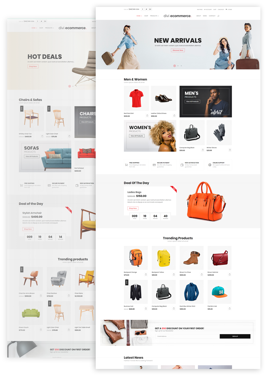 Divi-Space-Divi-Ecommerce-Child-Theme-Home Pages